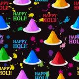 Festival indiano pós e respingo coloridos das cores Imagem de Stock Royalty Free