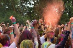 Festival indien de couleurs Images libres de droits