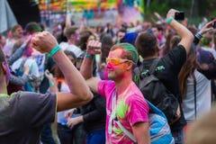 Festival indien de couleurs Holi Images stock