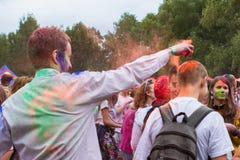 Festival indien de couleurs Holi Photographie stock libre de droits