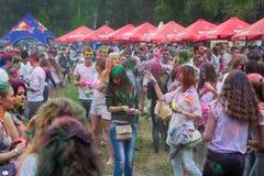 Festival indien de couleurs Holi Photos stock