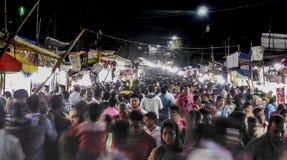 Festival in Indien-Menge movment Lizenzfreies Stockfoto