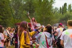 Festival indio de los colores Holi Imagenes de archivo