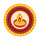 Festival indio del diwali stock de ilustración
