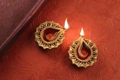 Festival indio Diwali Deepawali Diya Lamp Lights Fotos de archivo