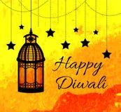 Festival indio feliz de Diwali de luces Tarjeta de felicitación de Diwali, invitación Ilustración del vector