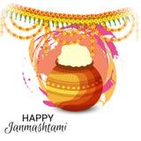 Festival indio feliz de Janmashtami de Lord Krishna Birthday libre illustration