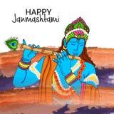 Festival indio feliz de Janmashtami de Lord Krishna Birthday ilustración del vector