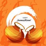 Festival indio feliz de Janmashtami de Lord Krishna Birthday stock de ilustración