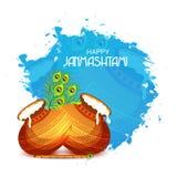Festival indio feliz de Janmashtami de Lord Krishna Birthday Fotos de archivo libres de regalías