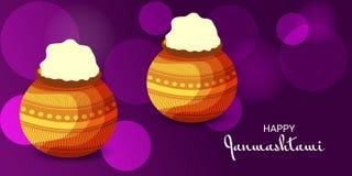Festival indio feliz de Janmashtami de Lord Krishna Birthday Fotografía de archivo libre de regalías