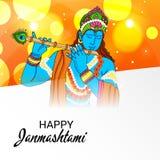 Festival indio feliz de Janmashtami de Lord Krishna Birthday Imágenes de archivo libres de regalías