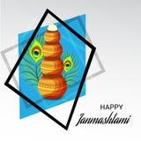Festival indio feliz de Janmashtami de Lord Krishna Birthday Fotos de archivo