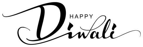 Festival indio feliz del día de fiesta de la tarjeta de felicitación del texto de Diwali de luces