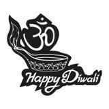 Festival indou de Diwali, festival léger, vacances heureuses de Diwali, illustration du diya brûlant, festival d'Inde illustration de vecteur