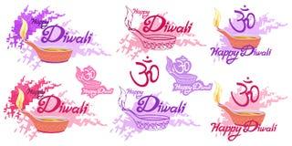 Festival indou de Diwali, festival léger, vacances heureuses de Diwali, illustration du diya brûlant, festival d'Inde illustration stock