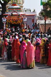 Festival indou de Navratri femmes indiennes coloré rectifiées Photo libre de droits