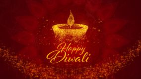 Festival indou heureux de Diwali des salutations de lumières images stock