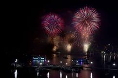 Festival internacional 2012 de los fuegos artificiales de Pattaya Imagen de archivo libre de regalías