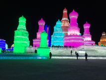 Festival internacional de la nieve y del hielo Fotos de archivo
