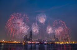Festival internacional de los fuegos artificiales Imagen de archivo libre de regalías