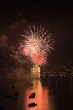 Festival internacional de los fuegos artificiales de Pattaya Imágenes de archivo libres de regalías