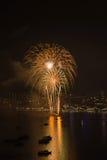 Festival internacional de los fuegos artificiales de Pattaya Imagen de archivo libre de regalías