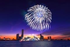 Festival internacional de los fuegos artificiales de Seul Fotografía de archivo