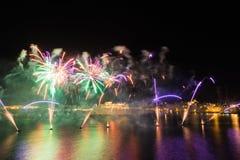 Festival internacional 2017 de los fuegos artificiales de Malta Imagen de archivo libre de regalías