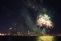 Festival internacional de los fuegos artificiales de Seul Fotografía de archivo libre de regalías
