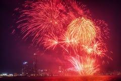 Festival internacional de los fuegos artificiales de Seul Fotos de archivo