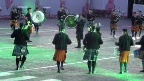 Festival internacional de MOSCOU da torre militar de Spasskaya da orquestra filme