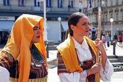 Festival internacional do folclore, 2017 , Zagreb, Croácia, 78 Imagem de Stock