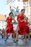 Festival internacional do folclore, 2017 , Zagreb, Croácia, 118 Foto de Stock