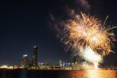 Festival internacional dos fogos-de-artifício de Seoul Imagem de Stock Royalty Free