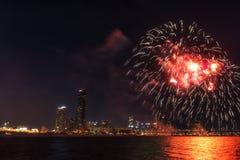 Festival internacional dos fogos-de-artifício de Seoul Imagem de Stock