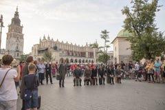 Festival internacional dos teatros ULICA da rua em Cracow_Kamchatka, Espanha Imagem de Stock
