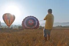 Festival internacional Montgolfeerie del globo foto de archivo