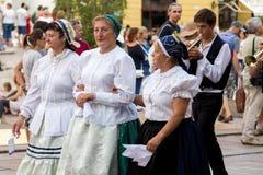 Festival international de danse folklorique, Pécs de la Hongrie Image libre de droits