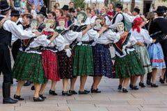 Festival international de danse folklorique, Pécs de la Hongrie Photo stock