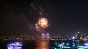 Festival international de feux d'artifice de Pattaya Photo stock
