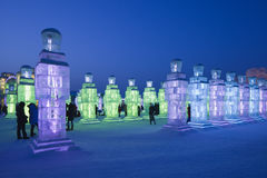 Festival international de glace et de sculpture sur neige, Harbin, Chine Photographie stock