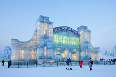 Festival international de glace et de sculpture sur neige, Harbin, Chine Images libres de droits
