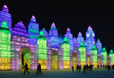 Festival international de glace et de sculpture sur neige, Harbin, Chine Photo libre de droits