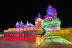 Festival international de glace et de sculpture sur neige, Harbin, Chine Photographie stock libre de droits