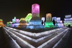 Festival international de glace et de sculpture sur neige, Harbin, Chine Image stock