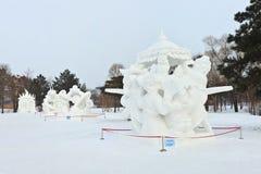 Festival international de glace et de sculpture sur neige, Harbin, Chine Images stock
