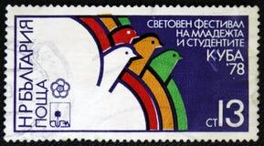 Festival international de la jeunesse dans Habana Cuba 1978 Photos stock