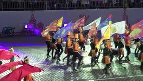 Festival international de MOSCOU de tour militaire de Spasskaya d'orchestre banque de vidéos