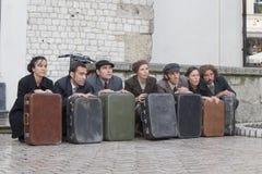 Festival international des théâtres ULICA de rue dans Cracow_Kamchatka, Espagne Photos libres de droits